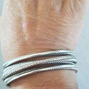 David Yurman Pave Diamond Crossover Bracelet